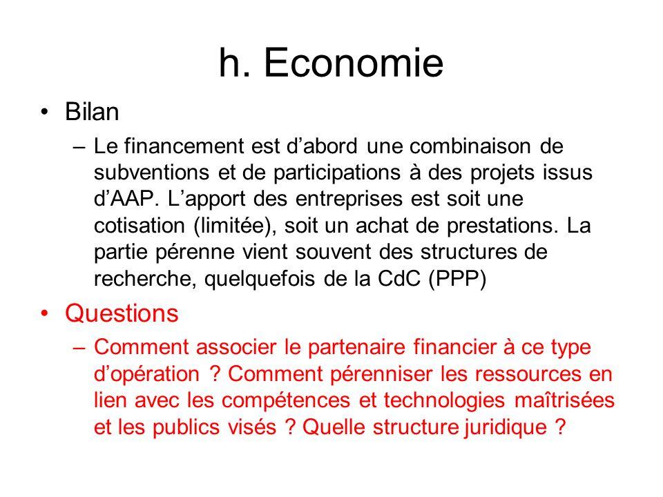 h. Economie Bilan Questions