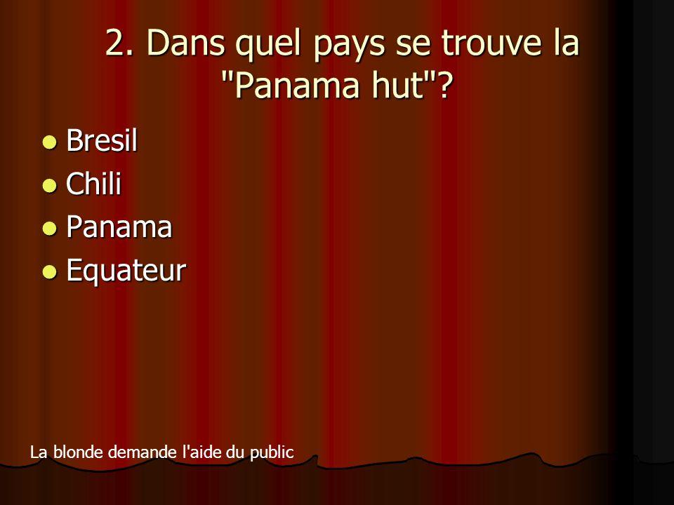 2. Dans quel pays se trouve la Panama hut