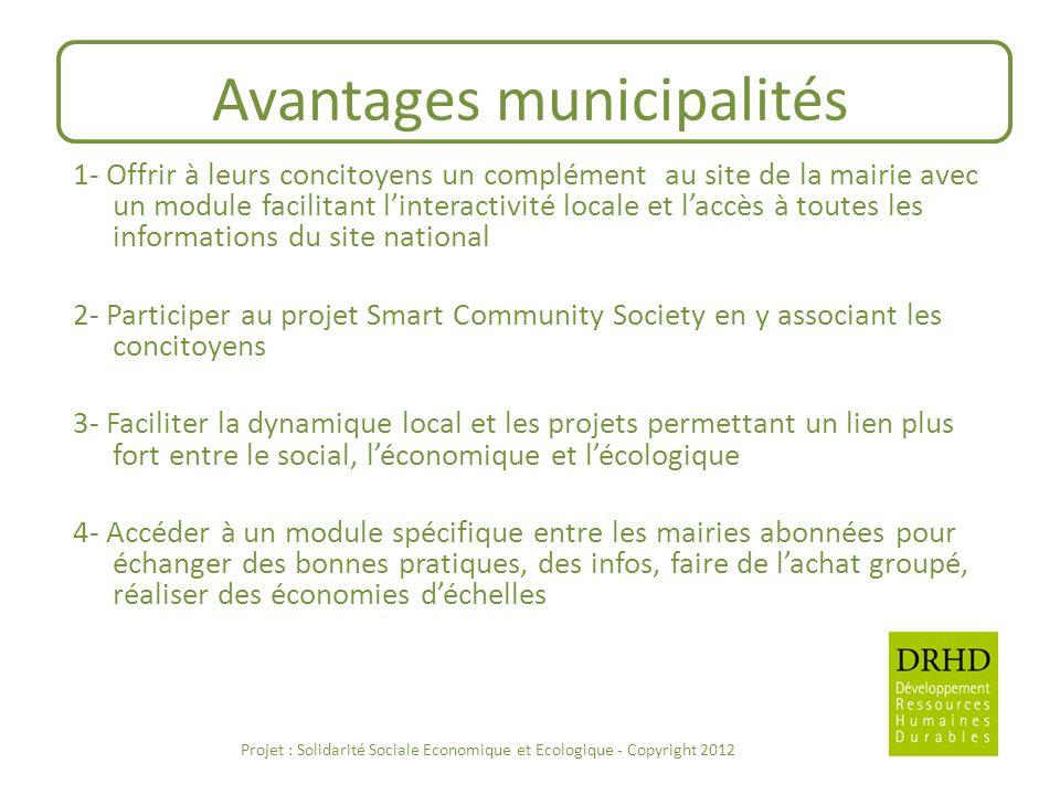 Avantages municipalités