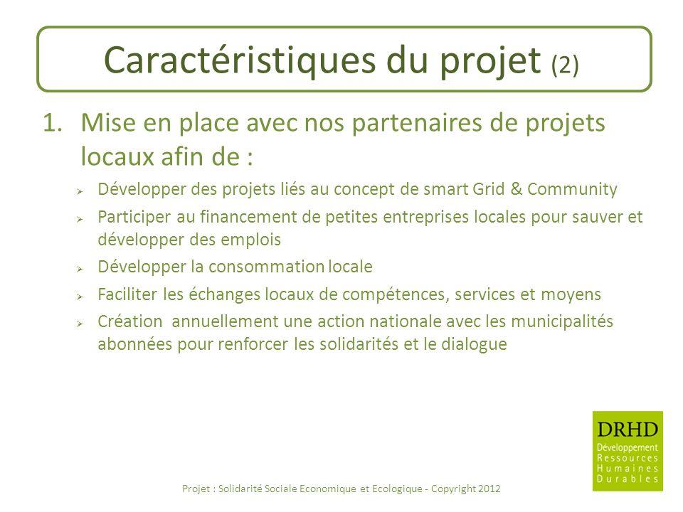 Caractéristiques du projet (2)