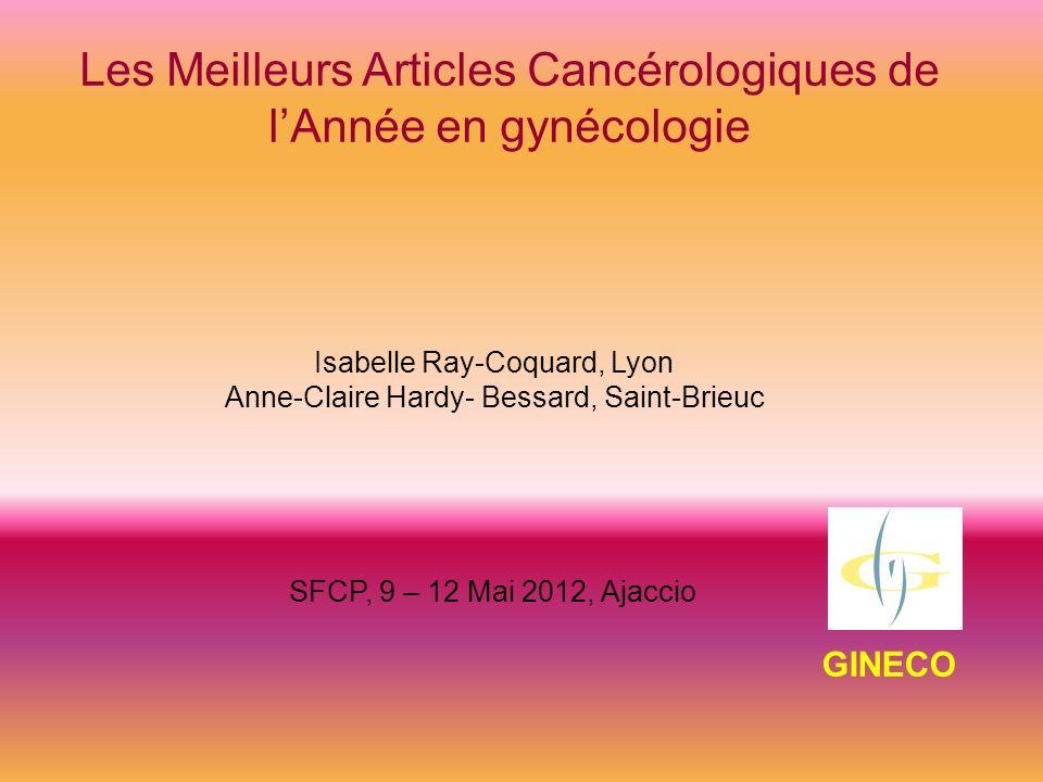 Les Meilleurs Articles Cancérologiques de l'Année en gynécologie