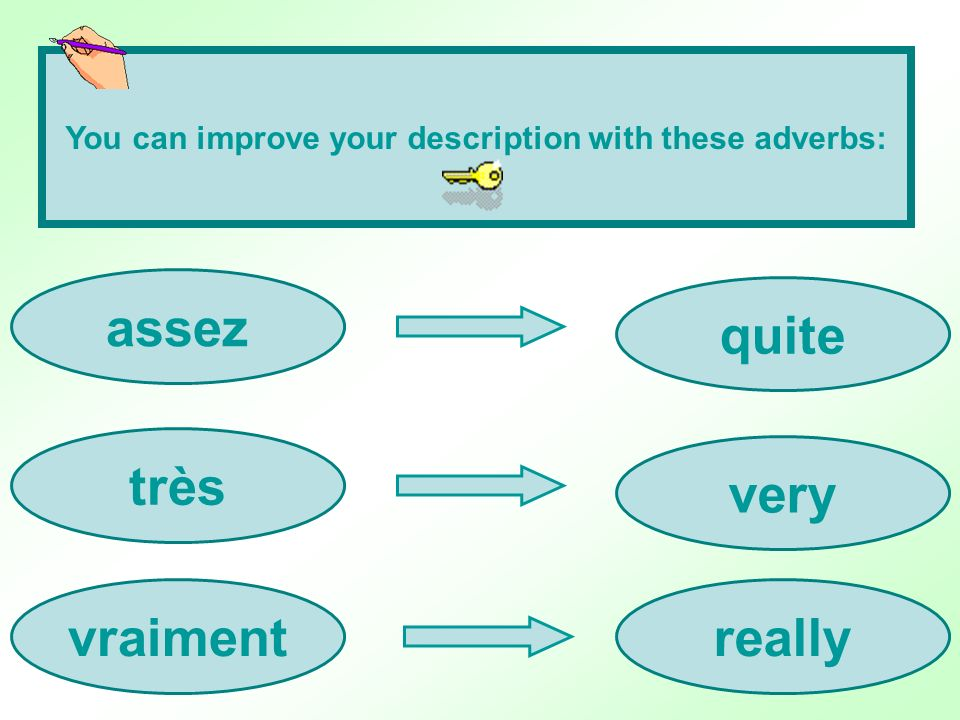 You can improve your description with these adverbs: