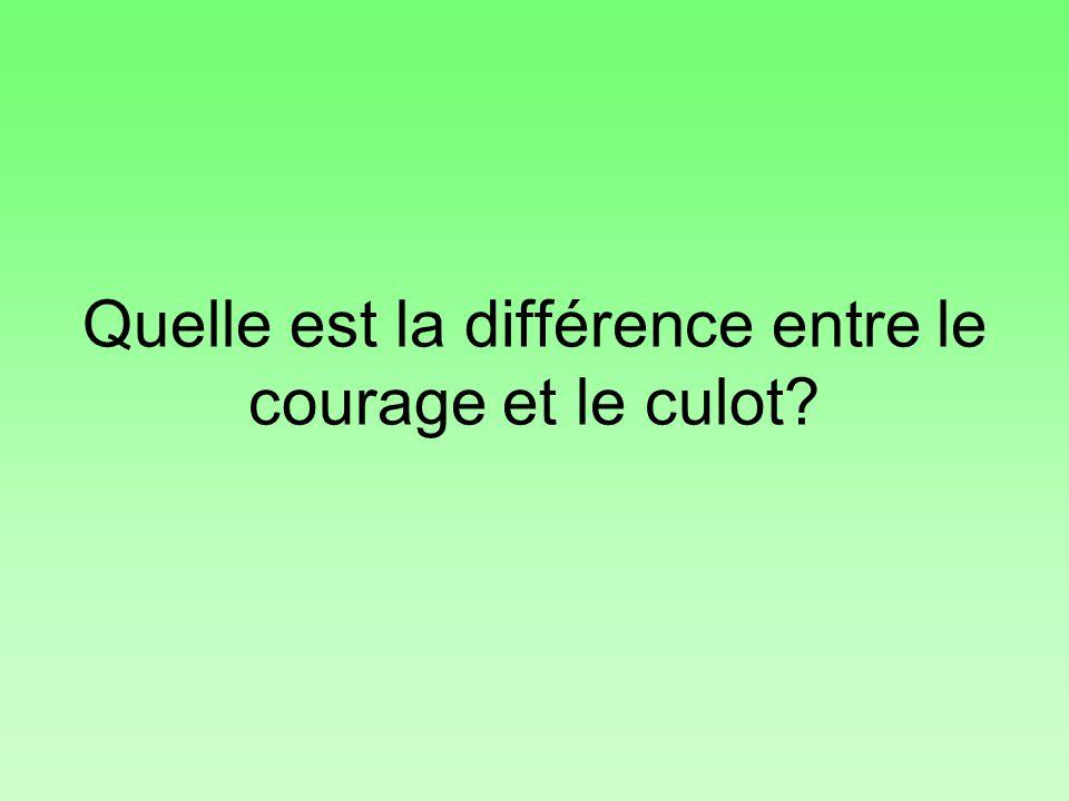 Quelle est la différence entre le courage et le culot