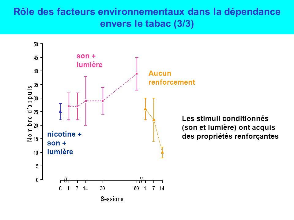 Rôle des facteurs environnementaux dans la dépendance envers le tabac (3/3)