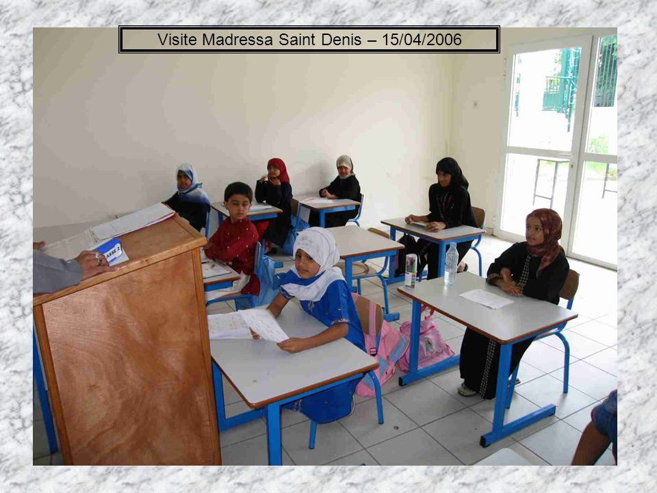 Visite Madressa Saint Denis – 15/04/2006