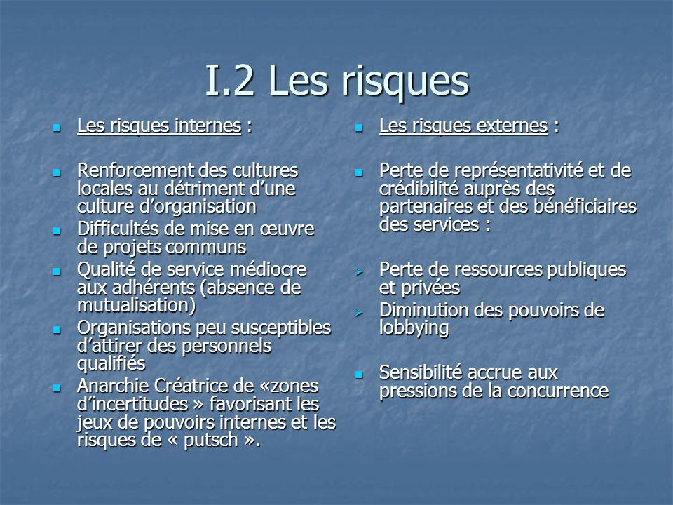 I.2 Les risques Les risques internes :