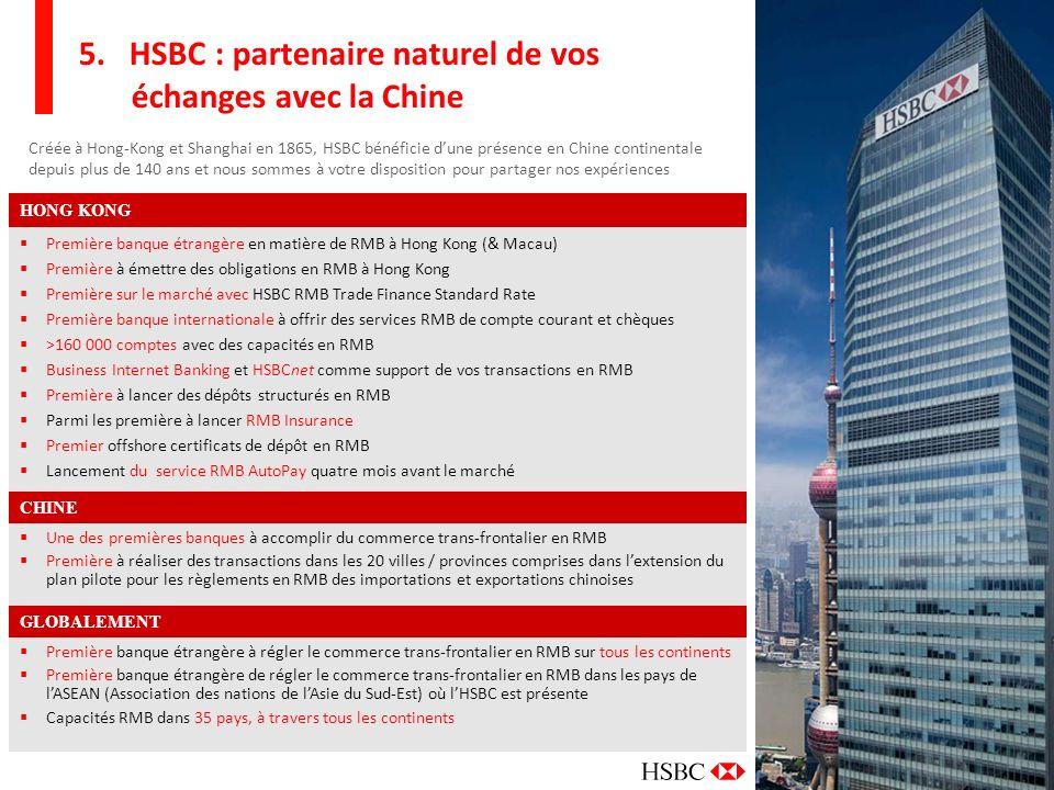 5. HSBC : partenaire naturel de vos échanges avec la Chine