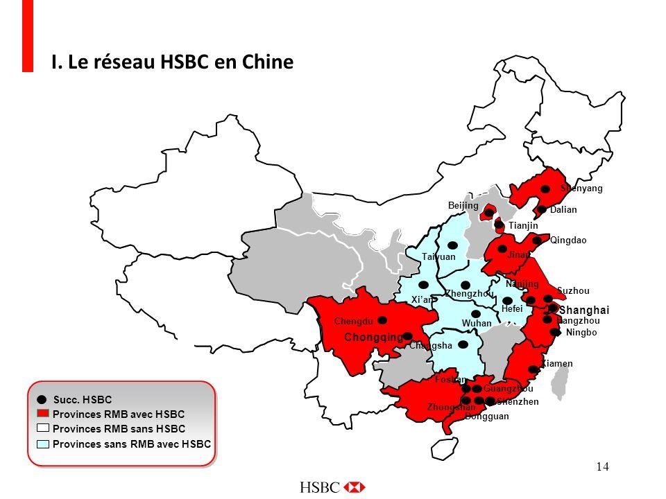 I. Le réseau HSBC en Chine