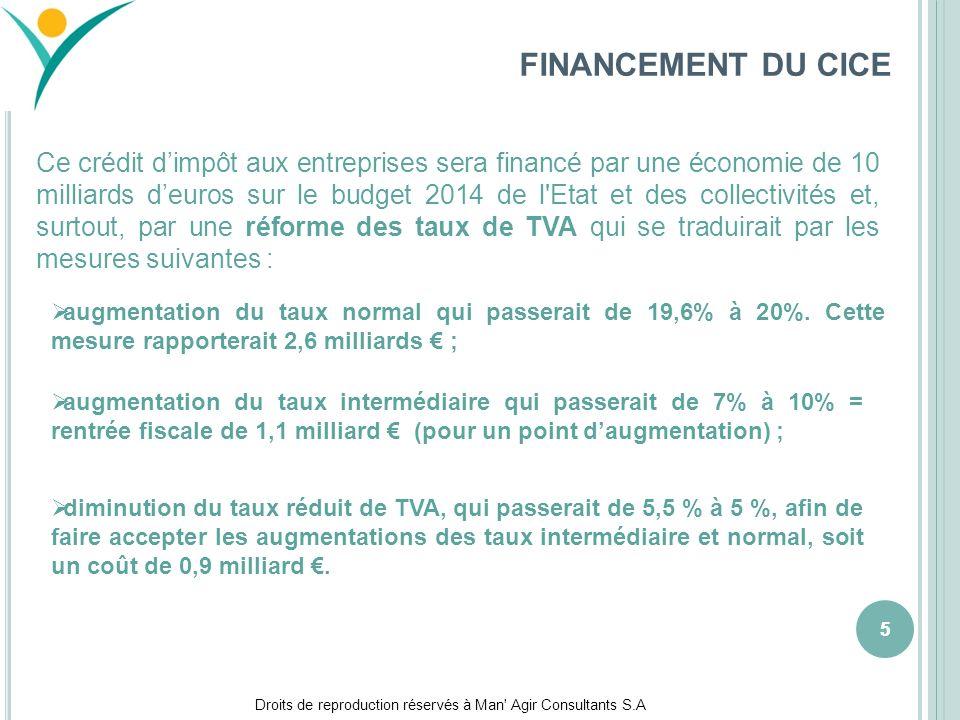 FINANCEMENT DU CICE mars 17.
