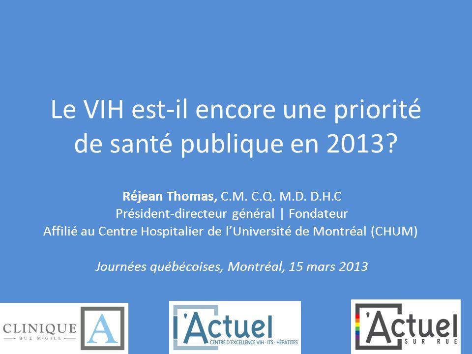 Le VIH est-il encore une priorité de santé publique en 2013