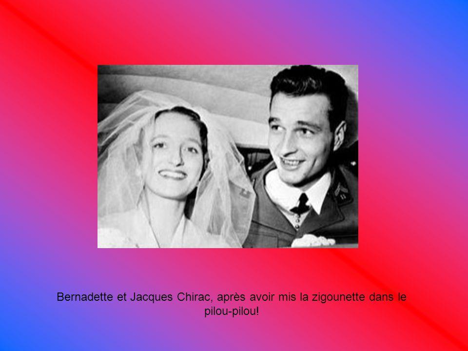 Bernadette et Jacques Chirac, après avoir mis la zigounette dans le pilou-pilou!