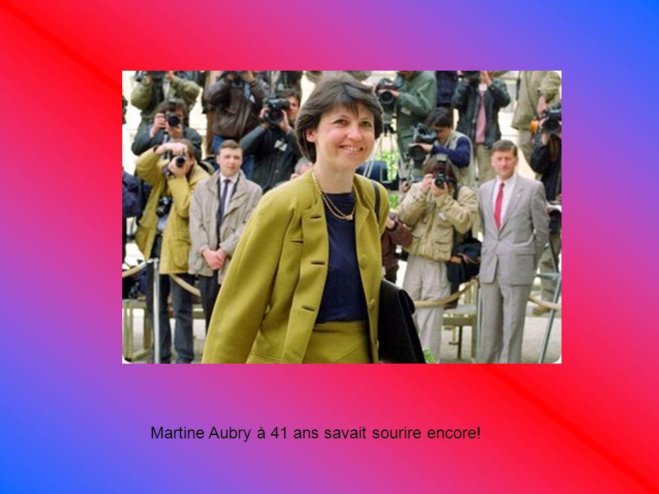 Martine Aubry à 41 ans savait sourire encore!