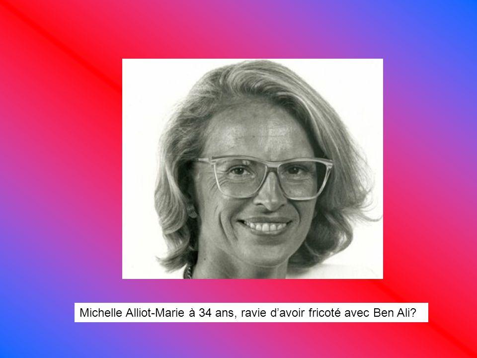 Michelle Alliot-Marie à 34 ans, ravie d'avoir fricoté avec Ben Ali