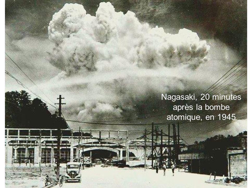 Nagasaki, 20 minutes après la bombe atomique, en 1945