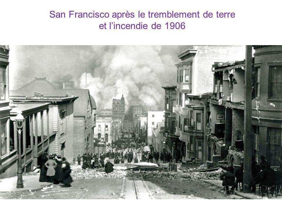 San Francisco après le tremblement de terre et l'incendie de 1906