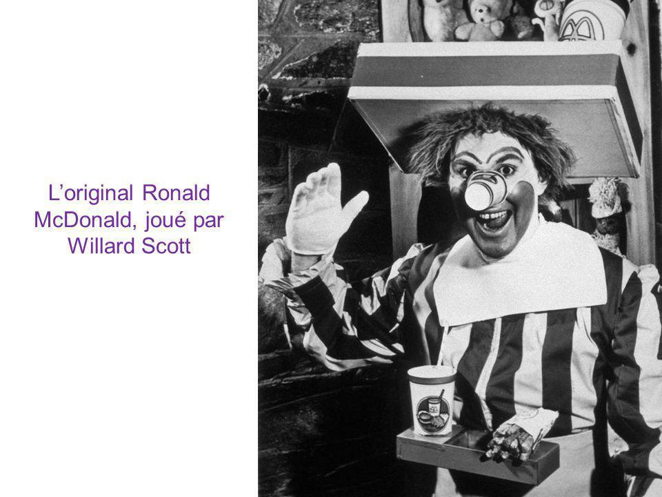 L'original Ronald McDonald, joué par Willard Scott