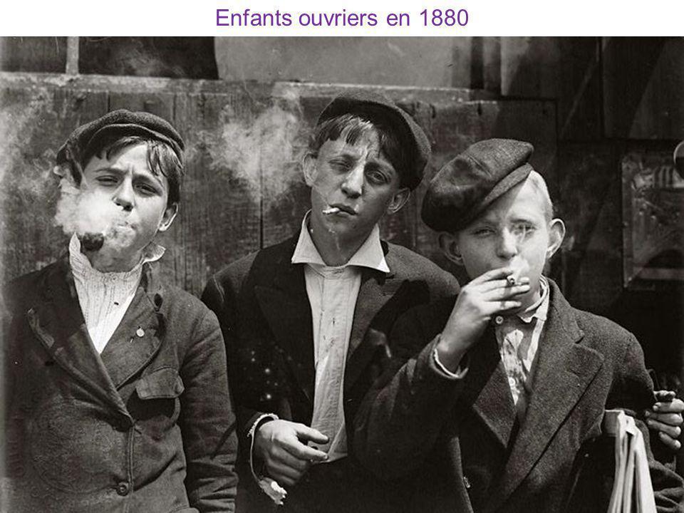 Enfants ouvriers en 1880