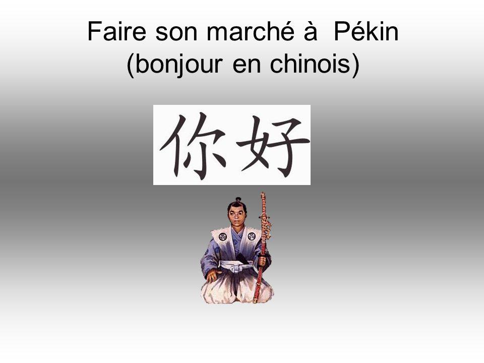 Faire son marché à Pékin (bonjour en chinois)