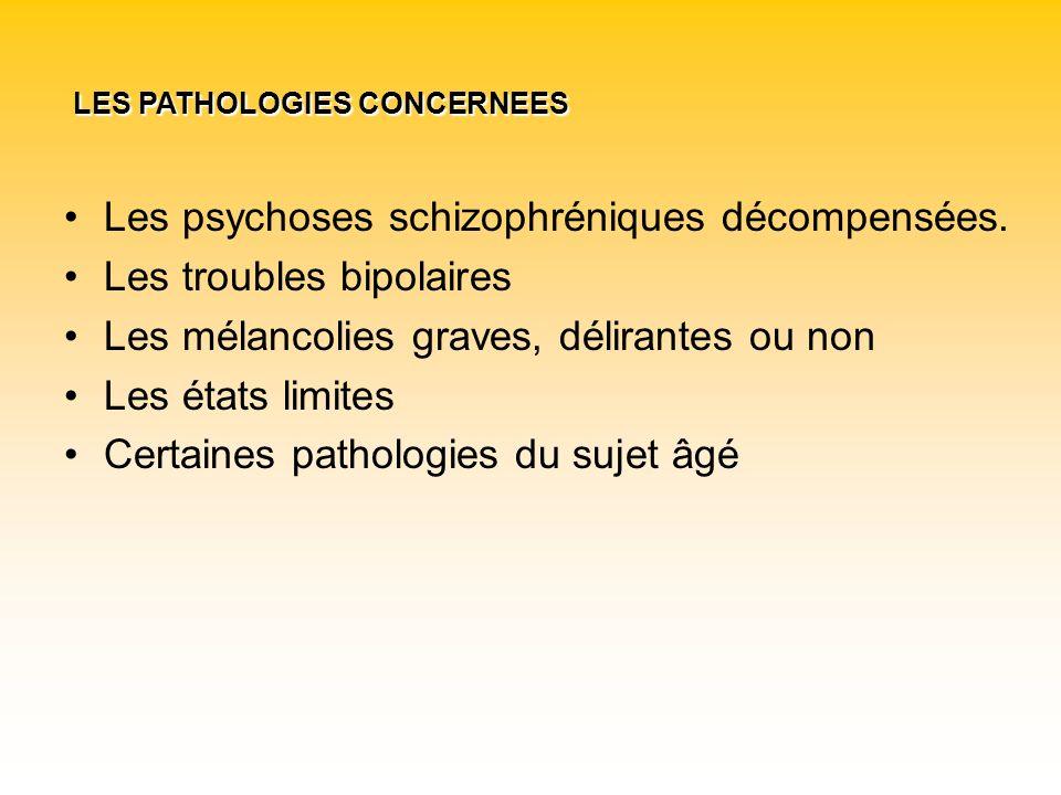 Les psychoses schizophréniques décompensées. Les troubles bipolaires