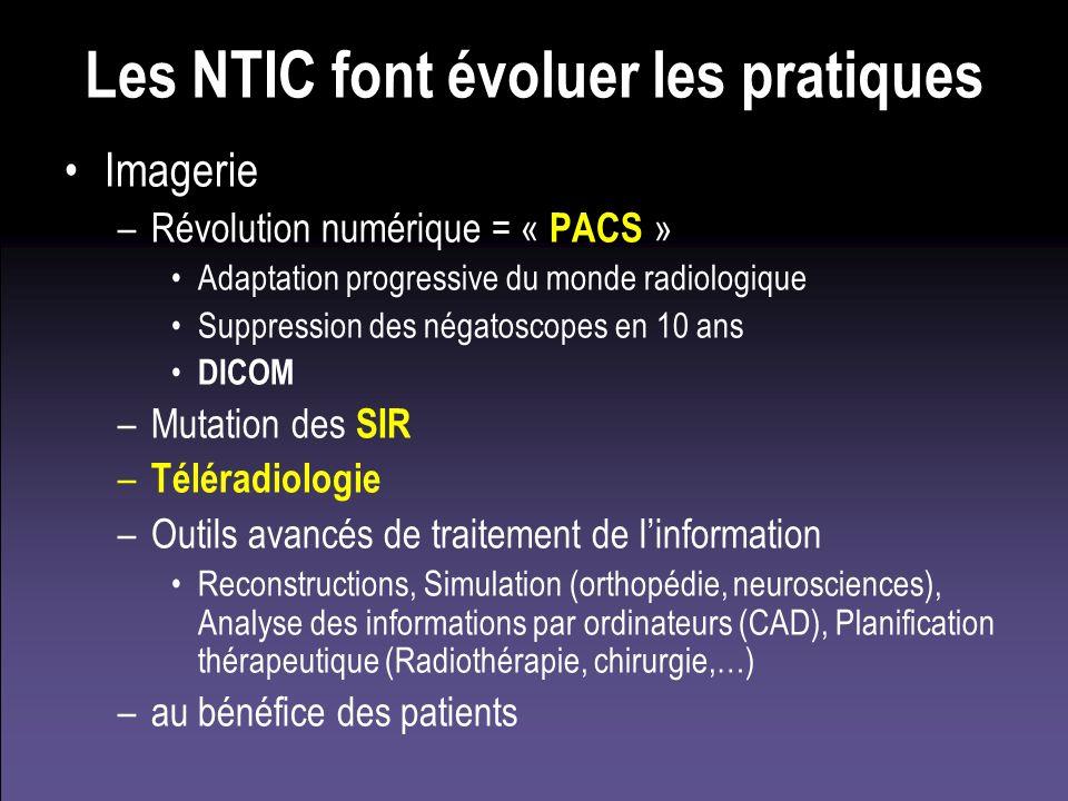 Les NTIC font évoluer les pratiques