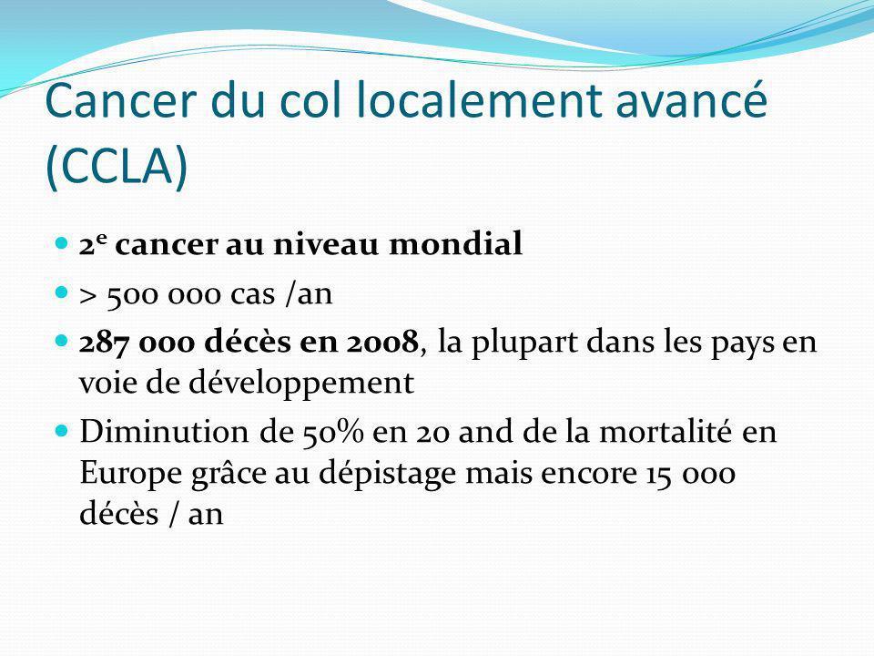 Cancer du col localement avancé (CCLA)