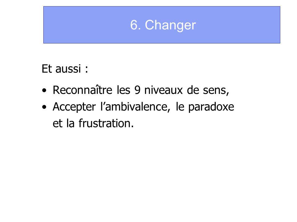6. Changer Et aussi : Reconnaître les 9 niveaux de sens,