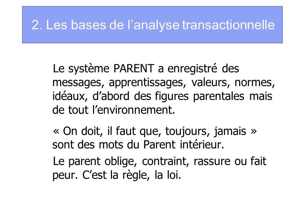 2. Les bases de l'analyse transactionnelle
