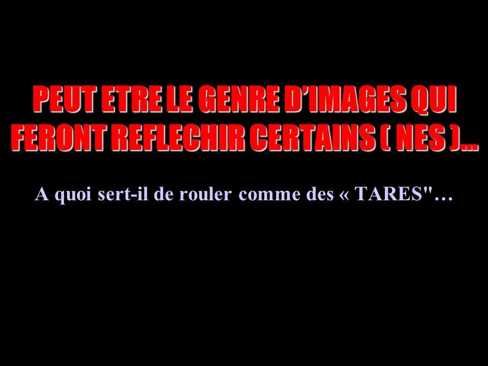PEUT ETRE LE GENRE D'IMAGES QUI FERONT REFLECHIR CERTAINS ( NES )…