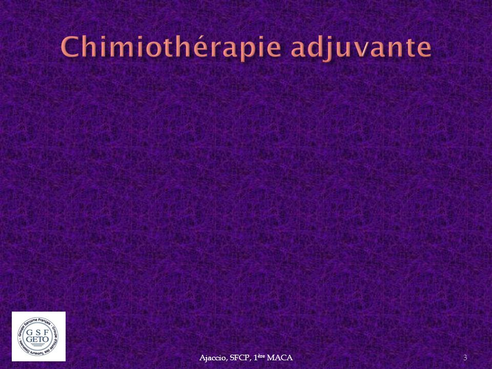 Chimiothérapie adjuvante
