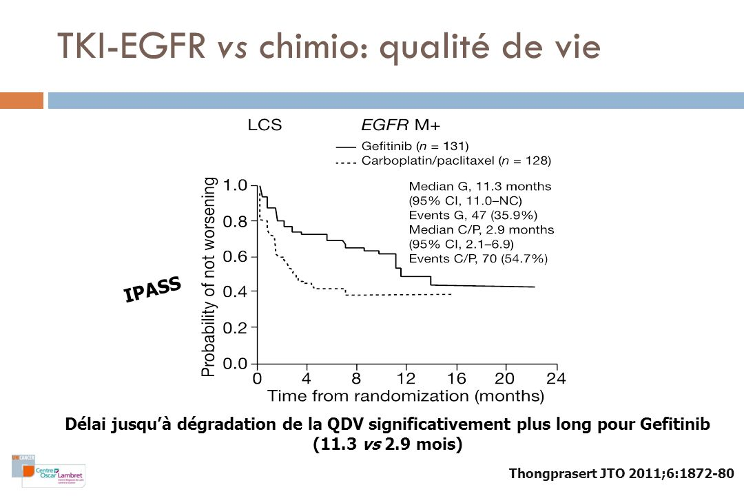 TKI-EGFR vs chimio: qualité de vie
