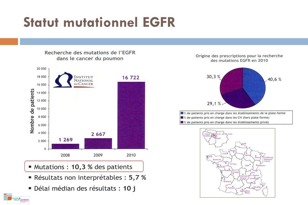 Statut mutationnel EGFR