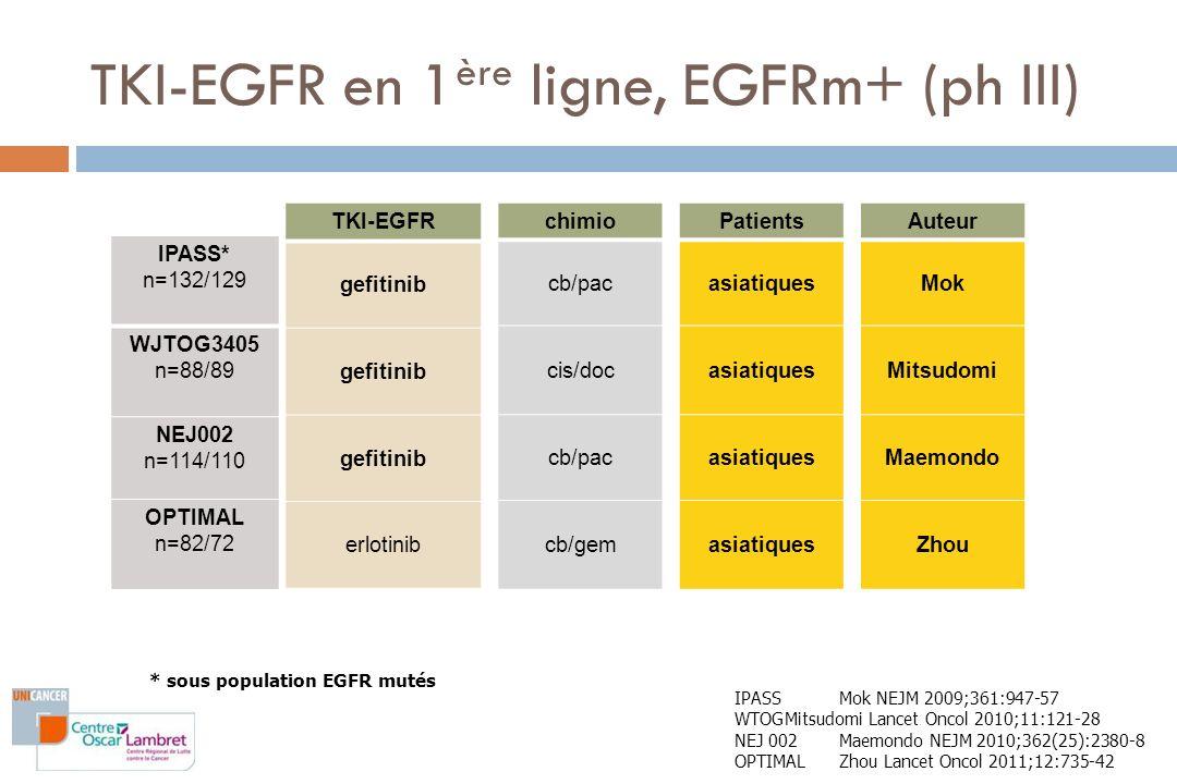 TKI-EGFR en 1ère ligne, EGFRm+ (ph III)