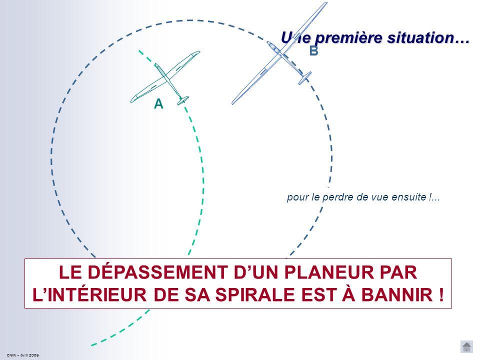 LE DÉPASSEMENT D'UN PLANEUR PAR