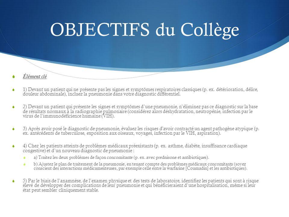 OBJECTIFS du Collège Élément clé