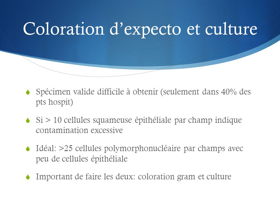 Coloration d'expecto et culture