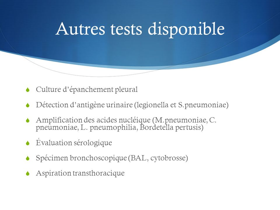 Autres tests disponible