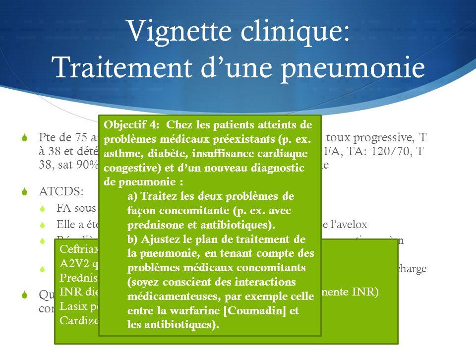 Vignette clinique: Traitement d'une pneumonie