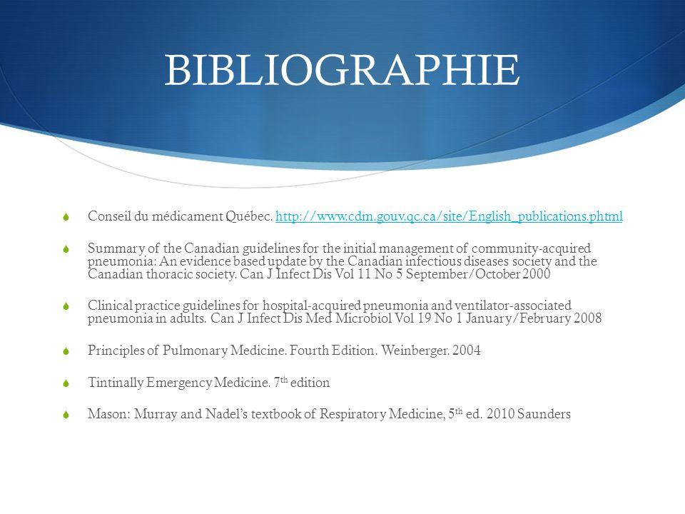 BIBLIOGRAPHIE Conseil du médicament Québec. http://www.cdm.gouv.qc.ca/site/English_publications.phtml.