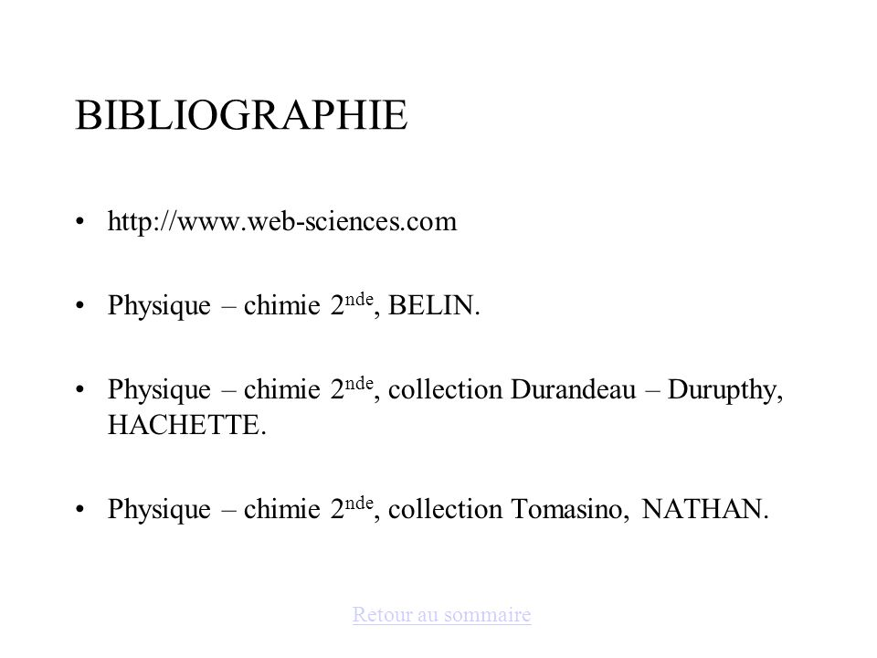 BIBLIOGRAPHIE http://www.web-sciences.com