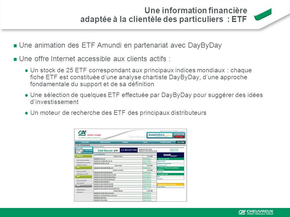 Une information financière