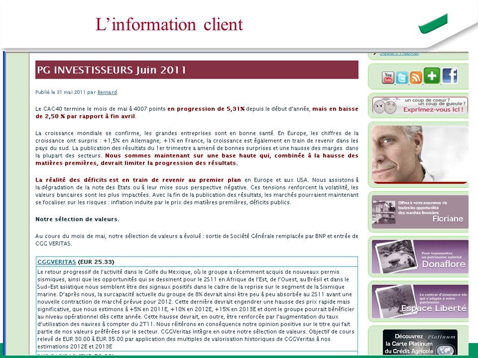 L'information client