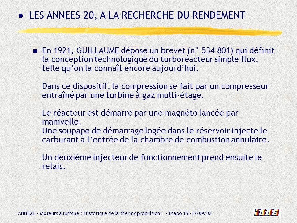LES ANNEES 20, A LA RECHERCHE DU RENDEMENT