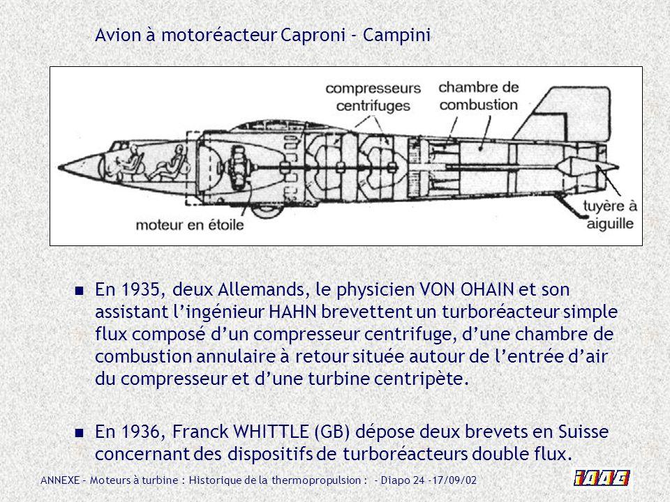 Avion à motoréacteur Caproni - Campini
