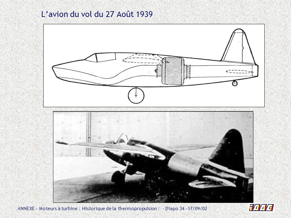 L'avion du vol du 27 Août 1939