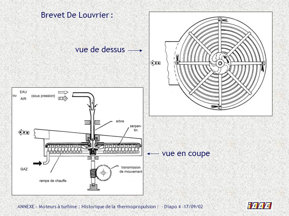 Brevet De Louvrier : vue de dessus vue en coupe