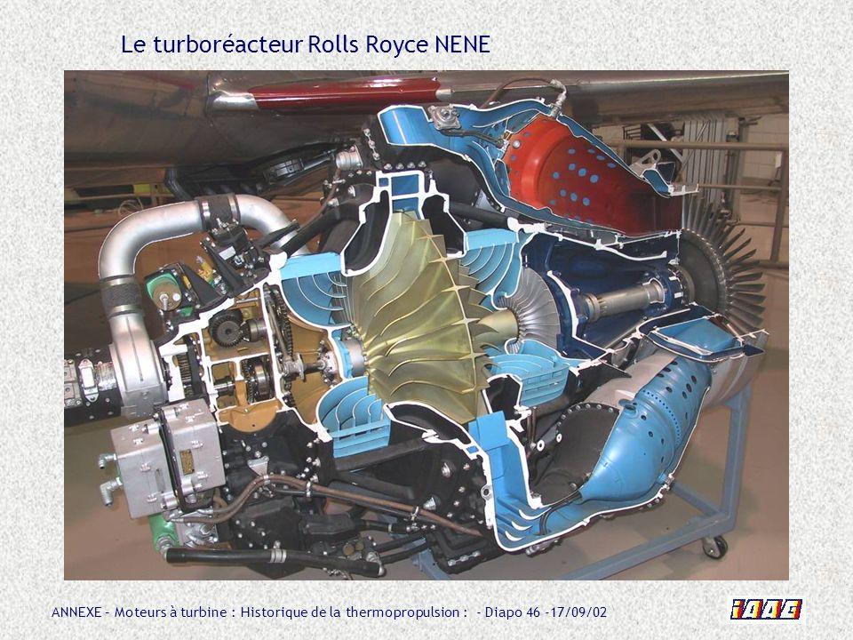 Le turboréacteur Rolls Royce NENE