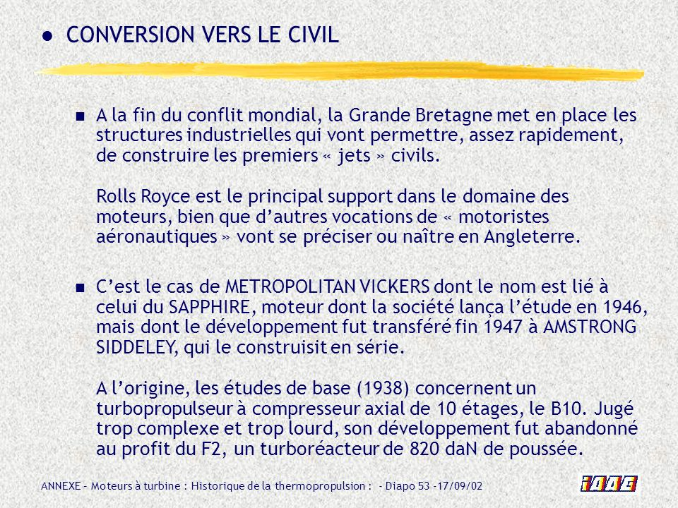 CONVERSION VERS LE CIVIL