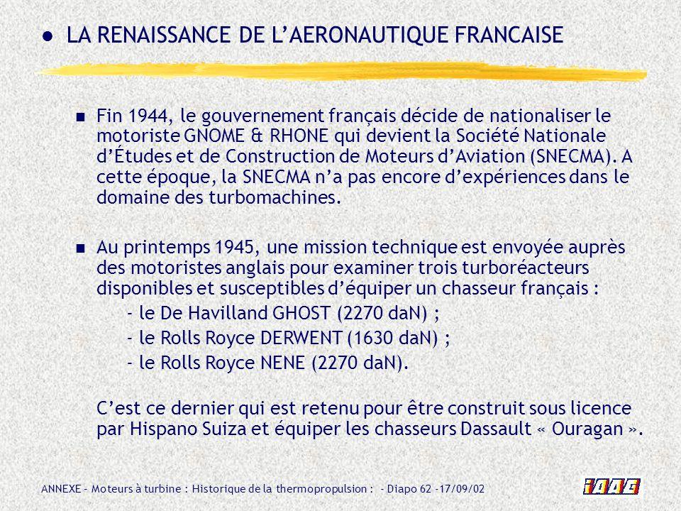 LA RENAISSANCE DE L'AERONAUTIQUE FRANCAISE
