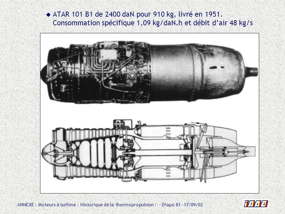 ATAR 101 B1 de 2400 daN pour 910 kg, livré en 1951