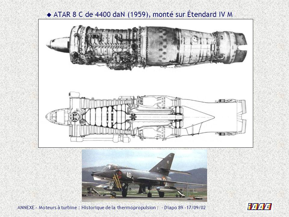 ATAR 8 C de 4400 daN (1959), monté sur Étendard IV M
